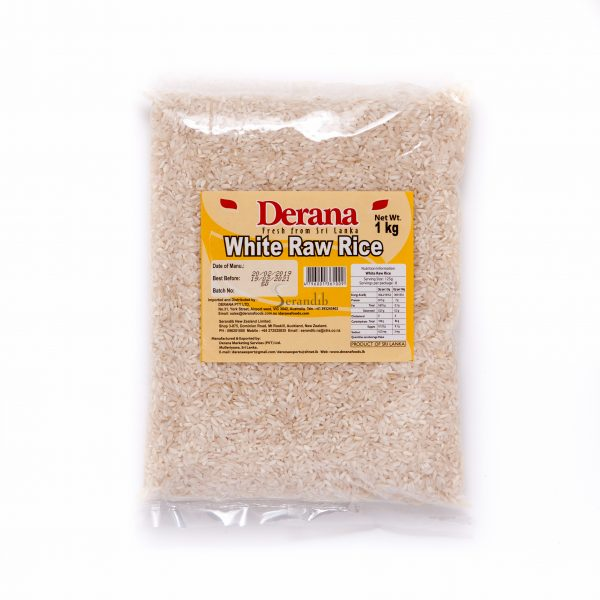 Derana White Raw Rice 1kg