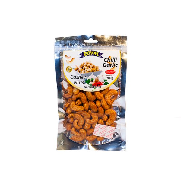Royal Chilli Garlic Cashew Nuts 100g