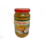 Derana - Pure Coconut Oil 400ml Pastic Jars (cocos Nucifera)