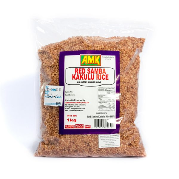 AMK Red Samba Kekulu Rice 1kg pack
