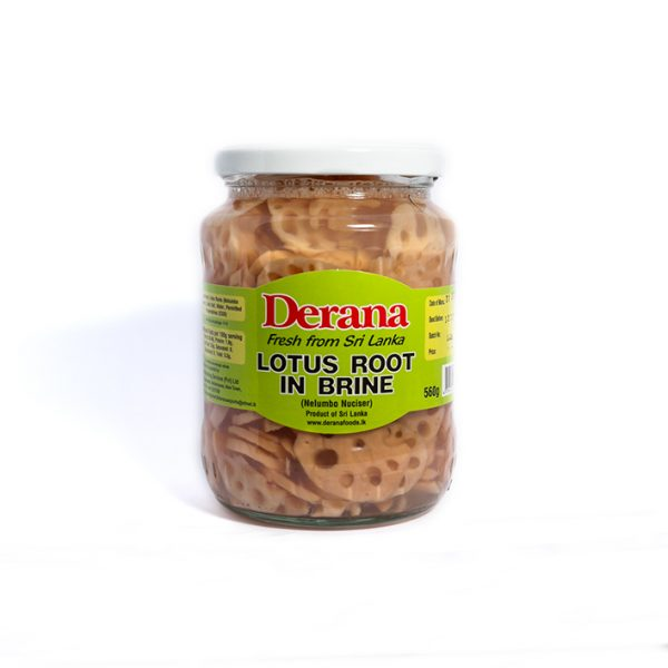 Derana – Lotus Root In Brine 560g Bott(nelumbo Nuciser) 1