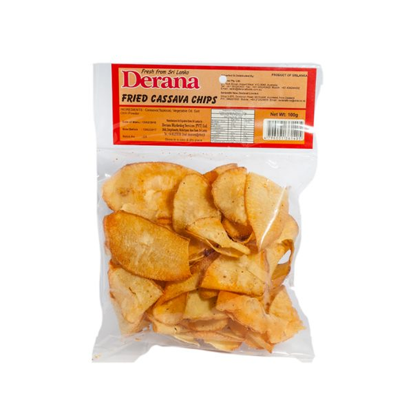 Derana – Fried Cassava Chips 100g Pkt (tapioca) 1
